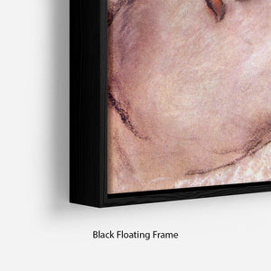 Womans back by Degas Floating Frame Canvas - Canvas Art Rocks - 2