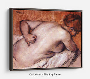 Womans back by Degas Floating Frame Canvas - Canvas Art Rocks - 5