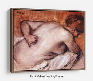 Womans back by Degas Floating Frame Canvas - Canvas Art Rocks 7
