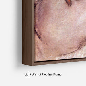 Womans back by Degas Floating Frame Canvas - Canvas Art Rocks - 8