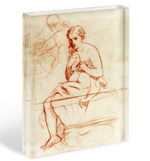 Women at the Toilet by Manet Acrylic Block - Canvas Art Rocks - 1