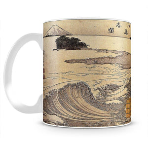 Women on the beach of Enoshima by Hokusai Mug - Canvas Art Rocks - 2
