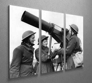 Women soldiers take aim WW2 3 Split Panel Canvas Print - Canvas Art Rocks - 2