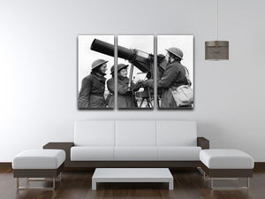 Women soldiers take aim WW2 3 Split Panel Canvas Print - Canvas Art Rocks - 3