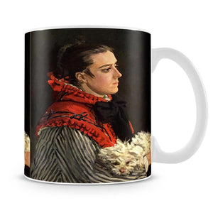 Women with Dog by Monet Mug - Canvas Art Rocks - 4