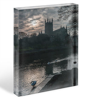 Worcester Cathedral Acrylic Block - Canvas Art Rocks - 1