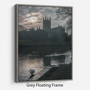 Worcester Cathedral Floating Frame Canvas - Canvas Art Rocks - 3