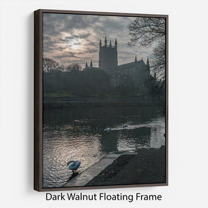 Worcester Cathedral Floating Frame Canvas - Canvas Art Rocks - 5
