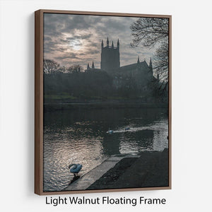 Worcester Cathedral Floating Frame Canvas - Canvas Art Rocks 7