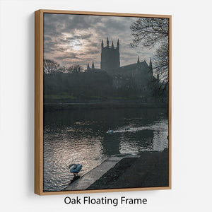 Worcester Cathedral Floating Frame Canvas - Canvas Art Rocks - 9