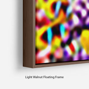 World with corals and tropical fish Floating Frame Canvas