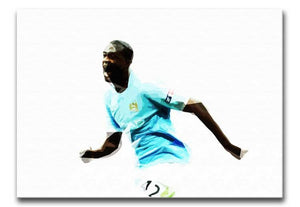 Yaya Toure Print - Canvas Art Rocks - 1