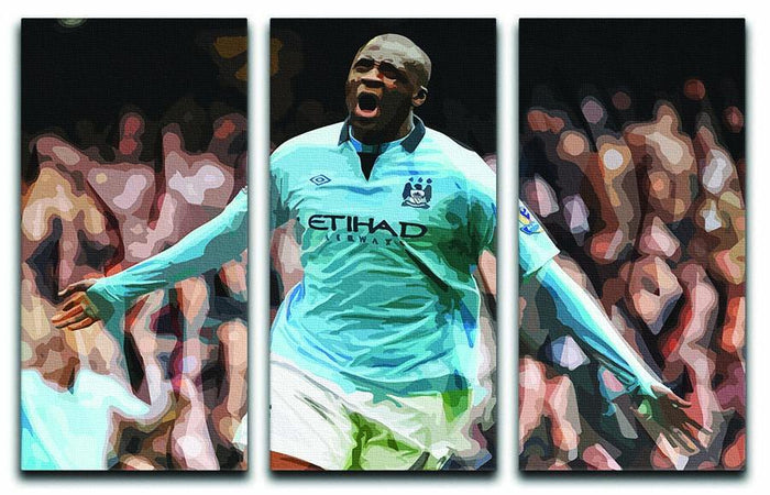 Yaya Toure Celebration 3 Split Panel Canvas Print