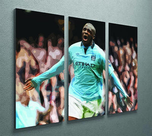 Yaya Toure Celebration 3 Split Panel Canvas Print - Canvas Art Rocks - 2