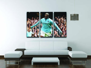 Yaya Toure Celebration 3 Split Panel Canvas Print - Canvas Art Rocks - 3