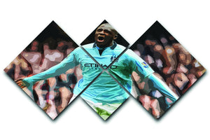 Yaya Toure Celebration 4 Square Multi Panel Canvas  - Canvas Art Rocks - 1