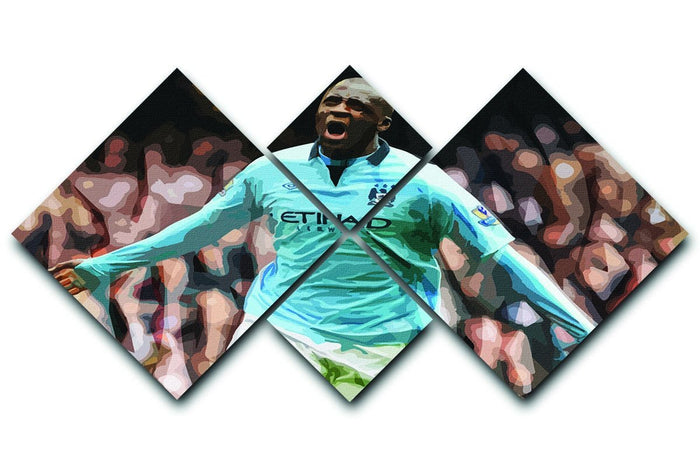Yaya Toure Celebration 4 Square Multi Panel Canvas