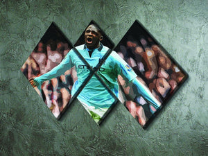 Yaya Toure Celebration 4 Square Multi Panel Canvas - Canvas Art Rocks - 2