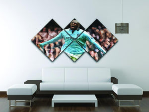 Yaya Toure Celebration 4 Square Multi Panel Canvas - Canvas Art Rocks - 3