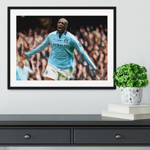 Yaya Toure Celebration Framed Print - Canvas Art Rocks - 1