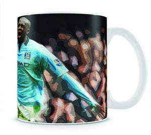 Yaya Toure Celebration Mug - Canvas Art Rocks - 1