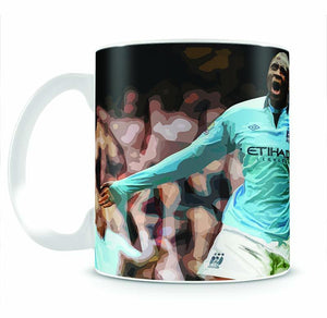 Yaya Toure Celebration Mug - Canvas Art Rocks - 2