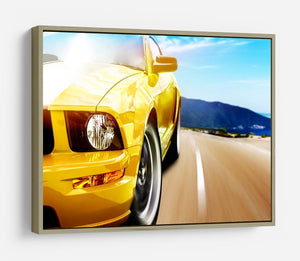 Yellow sport car HD Metal Print