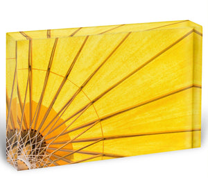 Yellow umbrella background Acrylic Block - Canvas Art Rocks - 1