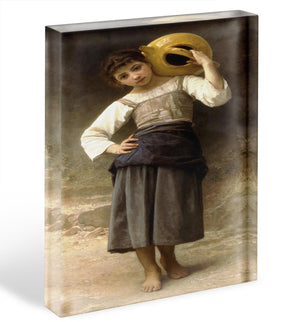 Young Girl Going to the Spring By Bouguereau Acrylic Block - Canvas Art Rocks - 1