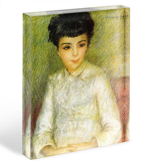 Young girl with brown hair by Renoir Acrylic Block - Canvas Art Rocks - 1