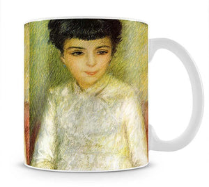 Young girl with brown hair by Renoir Mug - Canvas Art Rocks - 1