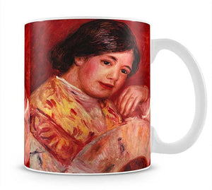 Young girl with fan by Renoir Mug - Canvas Art Rocks - 1