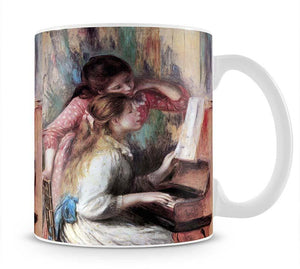 Young girls at the piano 1 by Renoir Mug - Canvas Art Rocks - 1