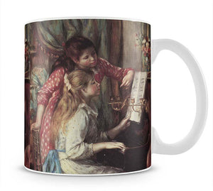 Young girls at the piano 2 by Renoir Mug - Canvas Art Rocks - 1