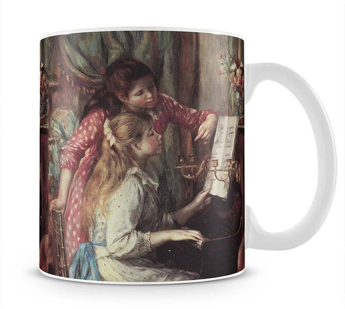 Young girls at the piano 2 by Renoir Mug