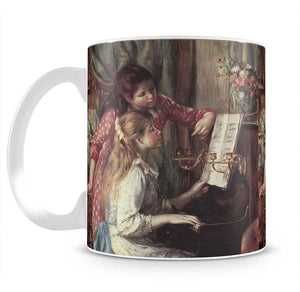 Young girls at the piano 2 by Renoir Mug - Canvas Art Rocks - 2