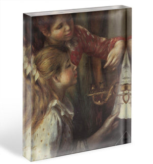 Young girls at the piano Detail by Renoir Acrylic Block - Canvas Art Rocks - 1