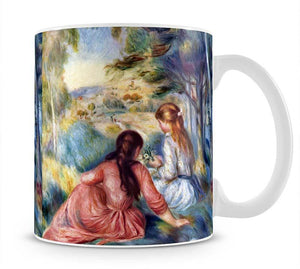 Young girls in the meadow by Renoir Mug - Canvas Art Rocks - 1