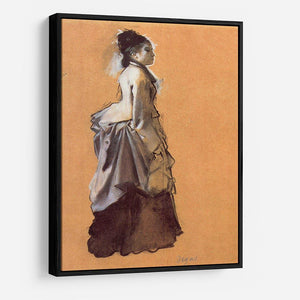 Young lady in the road costume by Degas HD Metal Print - Canvas Art Rocks - 6