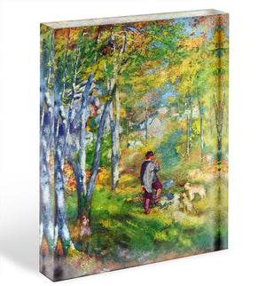 Young man in the forest of Fontainebleau by Renoir Acrylic Block - Canvas Art Rocks - 1