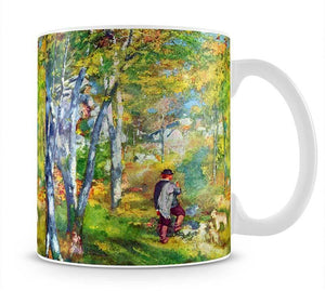 Young man in the forest of Fontainebleau by Renoir Mug - Canvas Art Rocks - 1