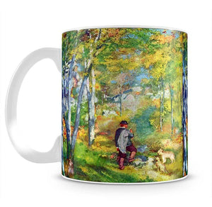 Young man in the forest of Fontainebleau by Renoir Mug - Canvas Art Rocks - 2