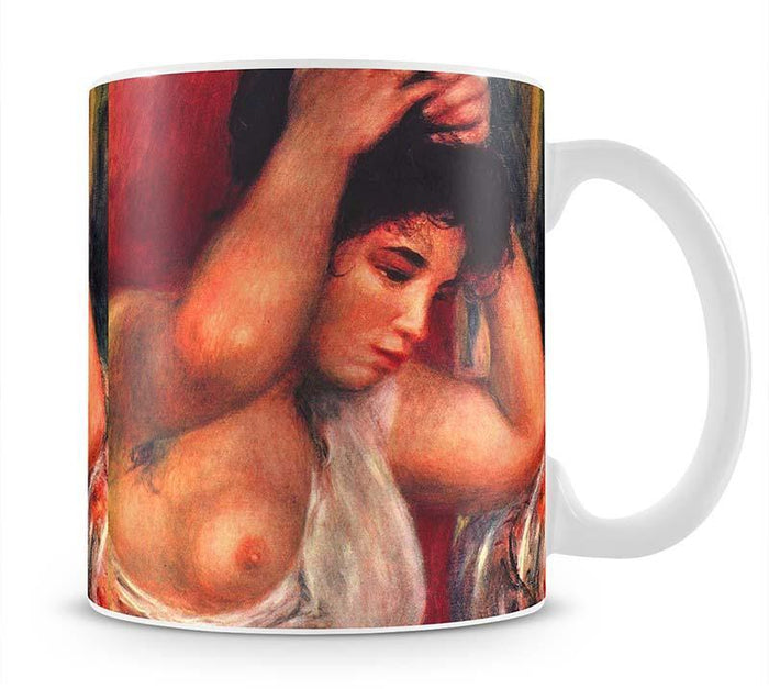 Young woman hairdressing by Renoir Mug