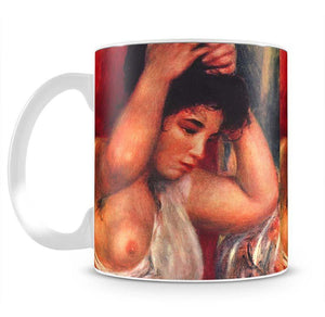 Young woman hairdressing by Renoir Mug - Canvas Art Rocks - 2