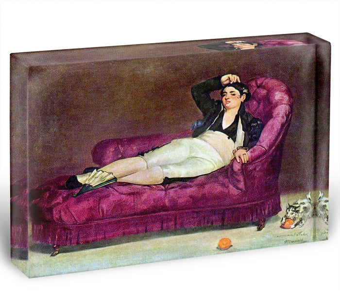 Young woman in Spanish dress by Manet Acrylic Block