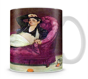 Young woman in Spanish dress by Manet Mug - Canvas Art Rocks - 1