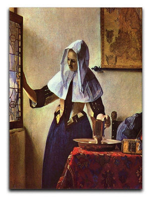 Young woman with a water jug at the window by Vermeer Canvas Print or Poster - Canvas Art Rocks - 1