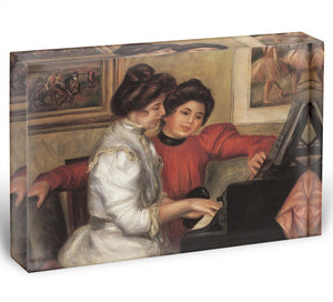 Yvonne and Christine Lerolle at the piano by Renoir Acrylic Block - Canvas Art Rocks - 1