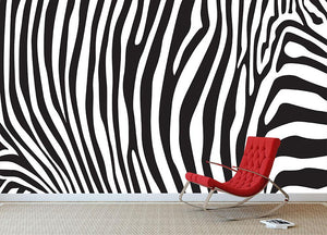 Zebra stripes pattern Wall Mural Wallpaper - Canvas Art Rocks - 2