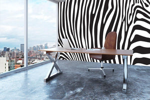 Zebra stripes pattern Wall Mural Wallpaper - Canvas Art Rocks - 3